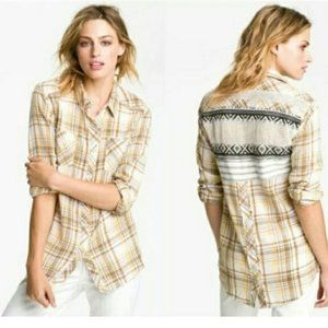 FP We the Free Plaid Shirt with Back Detail